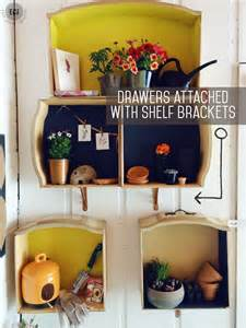 how to make wall shelves out of dresser drawers east