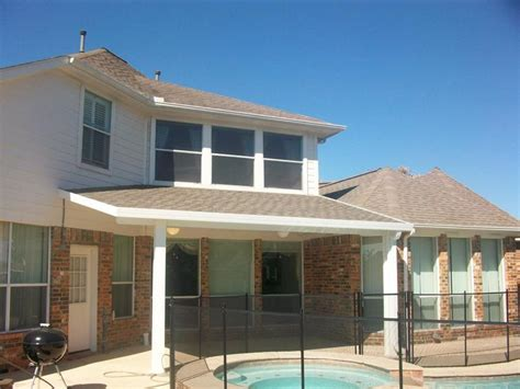 Aluminum Covered Patio With Shingles in Katy TX