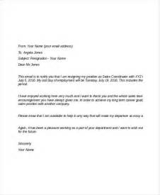 Resignation Letter Email To Manager 23 Simple Resignation Letters Free Premium Templates