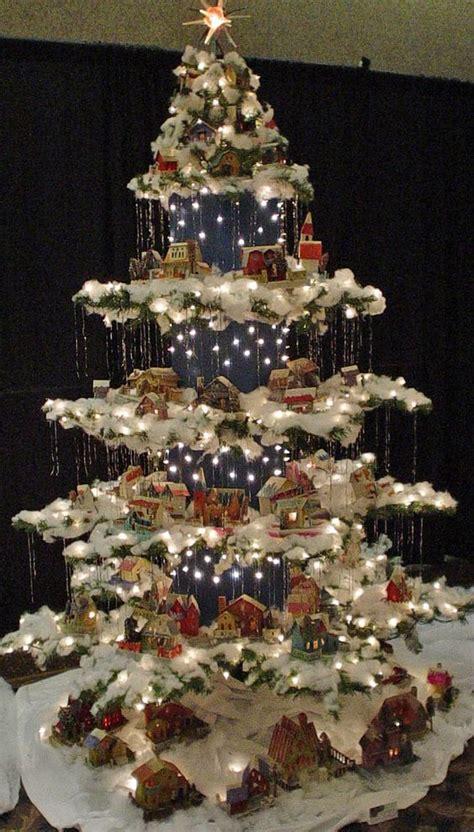measurements christmas tree village display un villaggio nel tuo albero di natale 15 esempi bellissimi tutorial