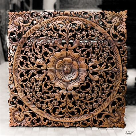 wooden wall carving panel indian style wall hanging