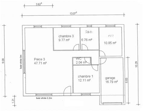 plan maison 3 chambre plan de maison simple 3 chambres