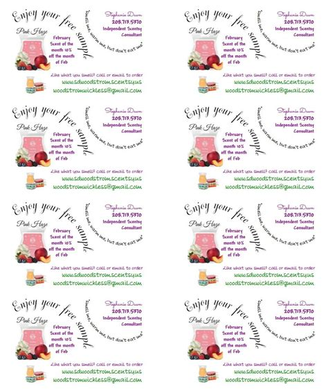 Printable Business Card Template For Scentsy by Pin By Tomlinson On Scentsy Scentsy