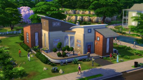 home design games like the sims the sims 4 build mode modern home image mod db