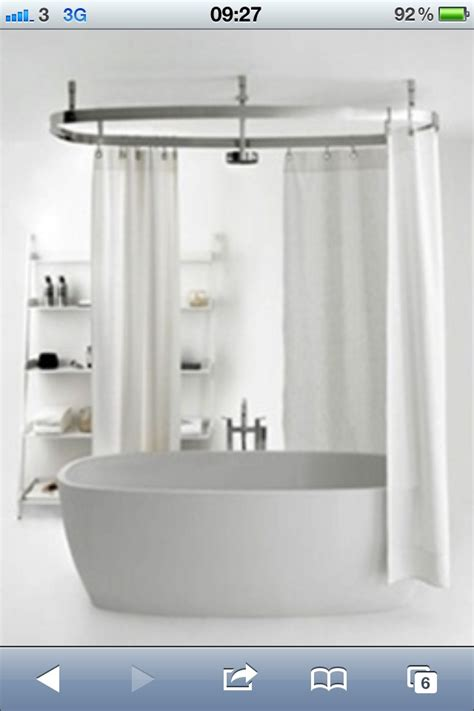 shower curtain rails for freestanding baths 25 best ideas about shower over bath on pinterest very