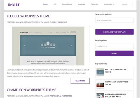 blog themes with ad space evidbt responsive blogger template 2014 free blogger templates