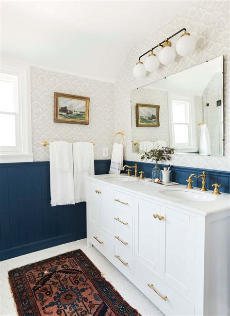 Modern Cottage Bathroom by Our Classic Modern Master Bathroom Reveal Emily Henderson