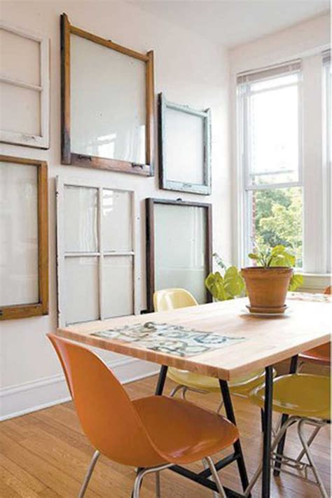 Rustic Dining Rooms 20 different ways to use old window frames