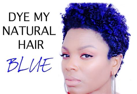 natural hair color with blue natural hair how i dye blue hair youtube