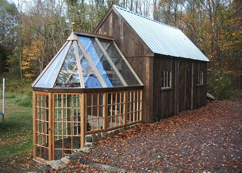 small barn houses this tiny barn greenhouse would make a fine tiny house