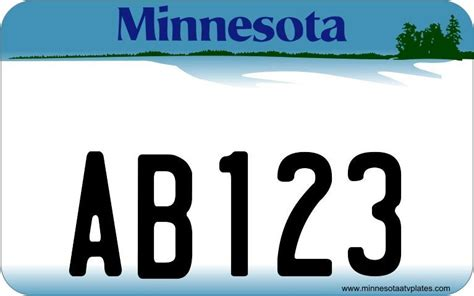 License Plate Lookup Mn Atv License Plate Minnesota Style Atv License Plate Ebay