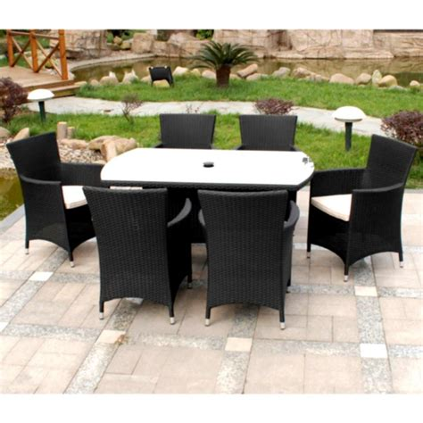 architecture stunning black wicker patio furniture feat garden in backyard feat black and white rattan dining sets