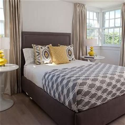 gray and yellow bedding contemporary bedroom erinn v design 17 best images about brown bedroom color on pinterest