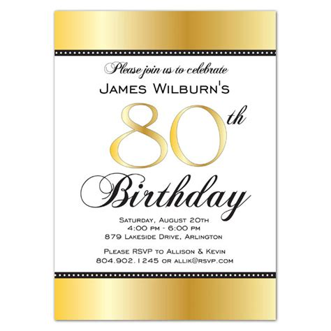 free invitations for 80th birthday golden celebration 80th birthday invitations paperstyle