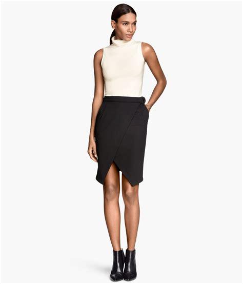 Skirt Black 1 h m wrap skirt in black lyst