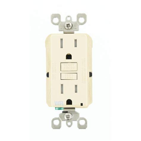 leviton receptacle leviton 15 smartlockpro weather ter resistant gfci receptacle light almond gfwt1 t the