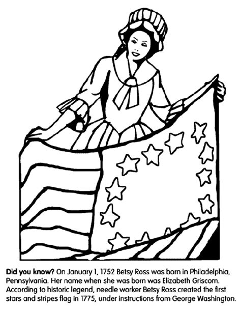 george washington coloring page crayola com betsy ross crayola ca