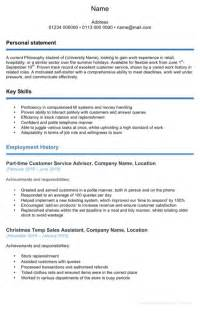 Exle Resume Profiles by For Temp Work Cv Template For Excel Pdf And Word