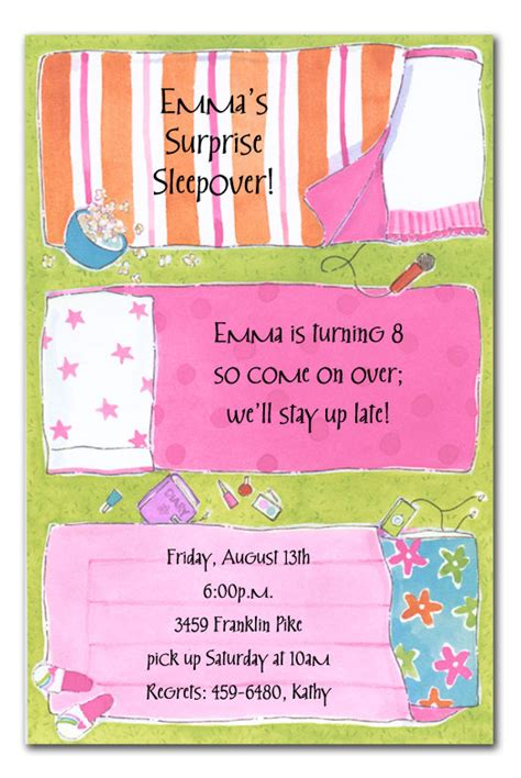 Piyama Pp House slumber two birthday invitations by invitation