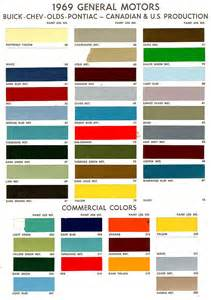 7 best images of 55 chevy color chart 1969 camaro paint