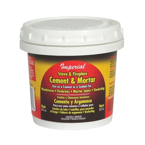 shop imperial 8 oz stove and fireplace cement at lowes