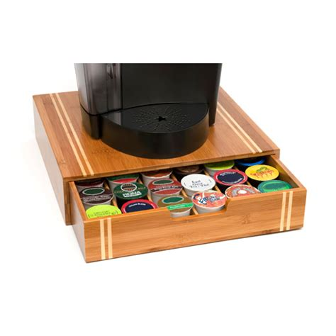 Coffee Storage Drawer by K Cup Coffee Organizer Bamboo In Tea And Coffee Storage