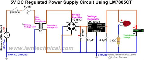 Gbpc5010 G By Pacalaya Electronics regulated dc power supply circuit using bridge rectifier