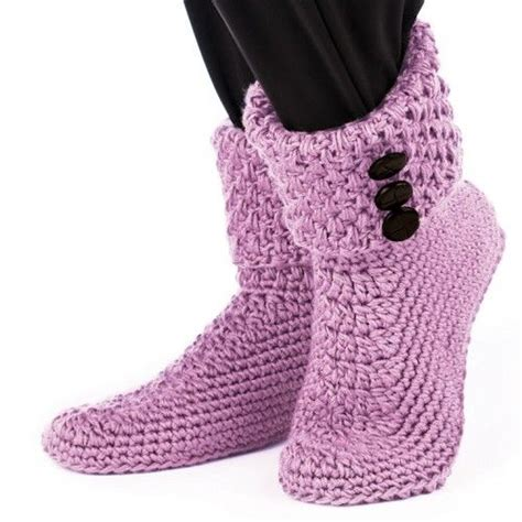 free button boats pattern buttoned cuffed boots slippers crochet crochet buttons