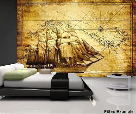 vintage wall murals wall vintage antique style explorer map atlas globe decorating wallpaper mural 3 free
