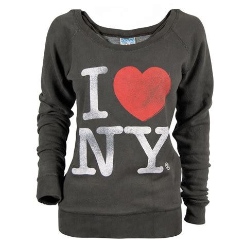 womens i new york sweater black wash