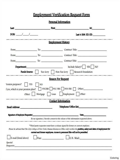 Employment Verification Request Form Template Free Download Elsevier Social Sciences Employment Verification Request Form Template