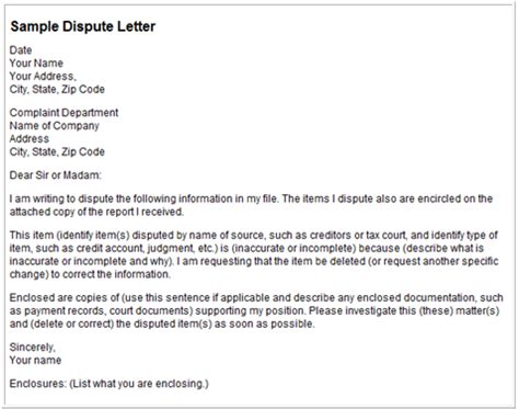 Real Credit Letter Dispute Letters That Work Dispute Letters For Credit Repair For Sle Debt Validation Letter