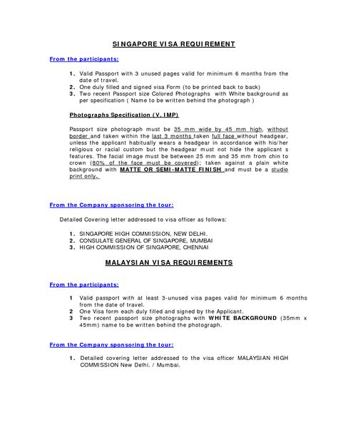Covering Letter For Singapore Visa by Sle Cover Letter For Immigration Application Guamreview
