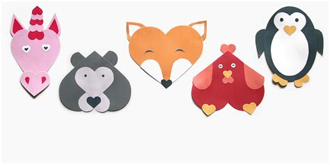 heart shaped animal crafts for valentine s day personal