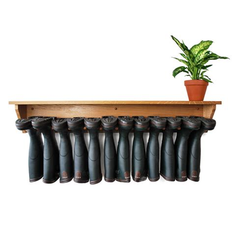 wall welly rack oak wall hanging welly rack 6 pair