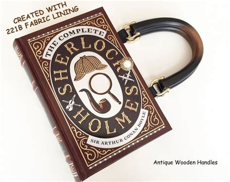 Name Holmess Purse by Sherlock Book Purse With 221b Wallpaper By