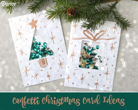 card diy ideas diy card ideas confetti present card darice