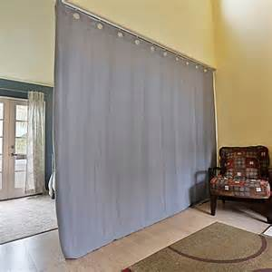 Floor To Ceiling Tension Rod Room Divider Roomdividersnow Ceiling Track Room Divider Kit B With 9 Foot Curtain Panel B Bed Bath