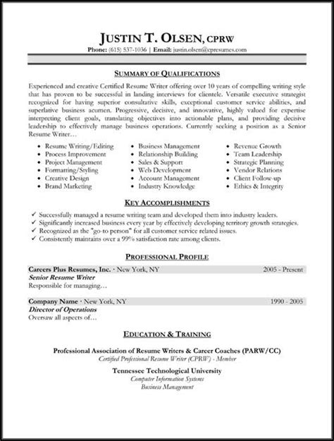 Types Of Resumes Exles by Resume Sles Types Of Resume Formats Exles And Templates