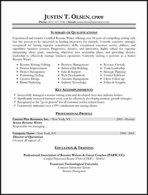typical resume format good recentresumescom - Format Of A Good Resume