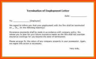Separation Letter Program Format