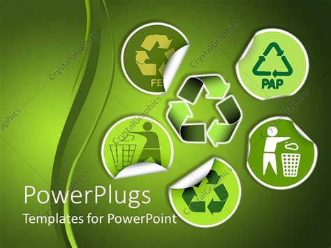 recycling powerpoint powerpoint template environment conservation stickers