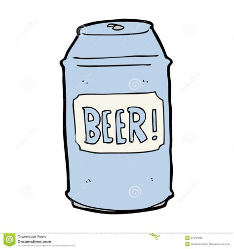 beer can cartoon cartoon beer can royalty free stock image image 37016336
