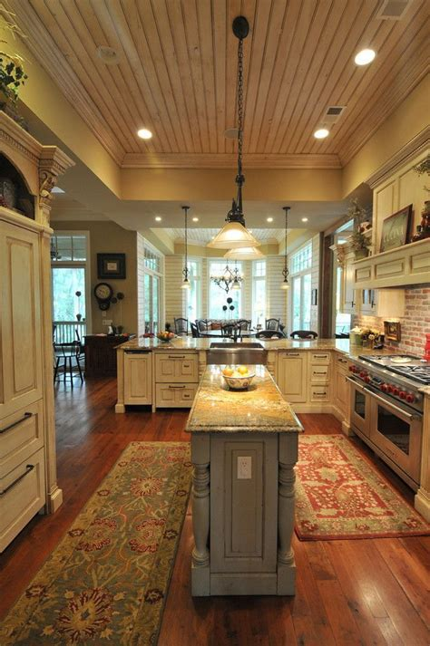 centre islands for kitchens southern coastal homes with a bigger center island though