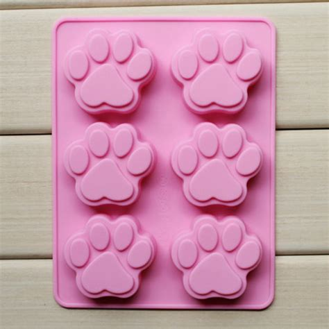 Jelly Candles Nenas Carving 1 6 cavity footprints pet cake mold silicone