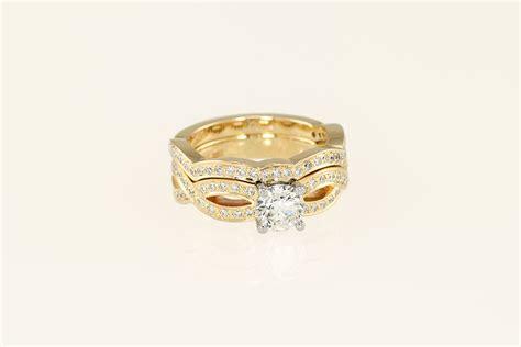 14k 19k white gold infinity engagement ring and flush