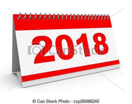 Calendar 2018 Clipart Drawing Of Calendar 2018 Calendar 2018 On White