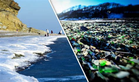 glass beach russia glass bay russian beach could vanish unless there is