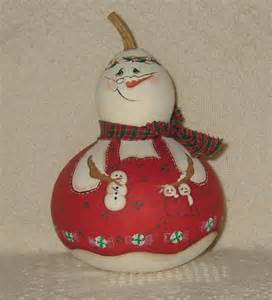 17 best images about painted gourds snowman on pinterest