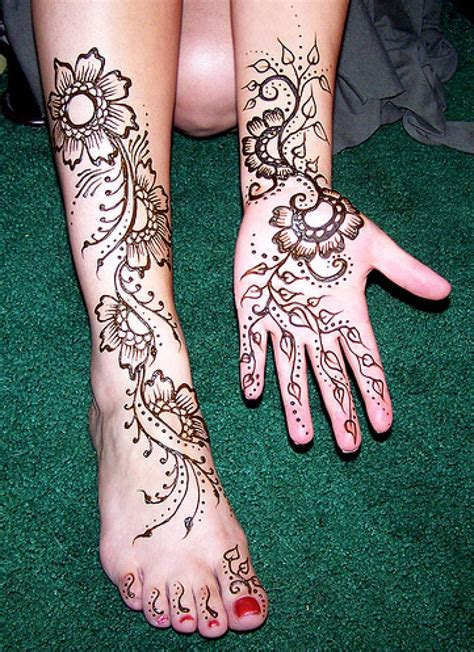 henna tattoo custom designs henna on clients leg and inofashionstyle